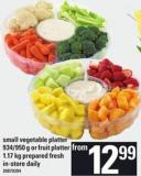 Small Vegetable Platter - 934/950 G Or Fruit Platter - 1.17 Kg