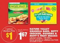 Nature Valley Granola Bars - Betty Crocker - Gushers & Mott's Fruit Snacks - 120-230 g