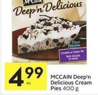 Mccain Deep'n Delicious Cream Pies