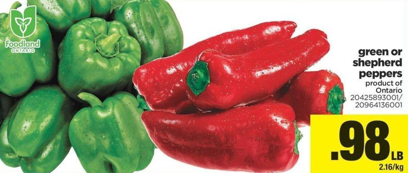 Green Or Shepherd Peppers