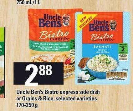 Uncle Ben's Bistro Express Side Dish Or Grains & Rice