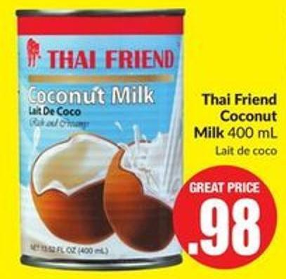 Thai Friend Coconut Milk 400 mL