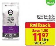 Ethical Bean Coffee Whole Bean Coffee