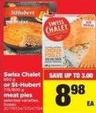 Swiss Chalet - 650 G Or St-hubert - 715/800 G Meat Pies