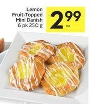 Lemon Fruit-topped Mini Danish 6 Pk 250 g