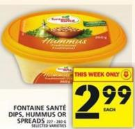 Fontaine Santé Dips - Hummus Or Spreads
