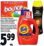 Tide Laundry Detergent - Bounce - Downy Unstopables Or Febreze Fabric Refreshers