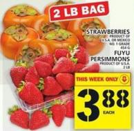 Strawberries Or Fuyu Persimmons