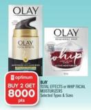 Olay Total Effects or Whip Facial Moisturizers