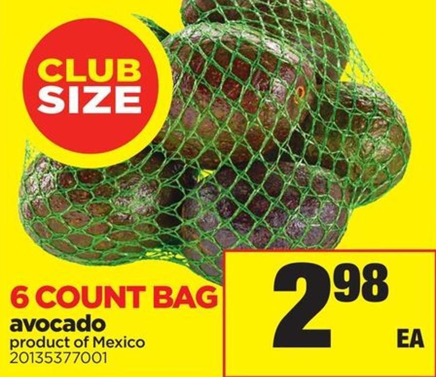 Avocado - 6 Count Bag