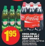 Coca-cola Or Canada Dry Soft Drinks - 6x710 Ml