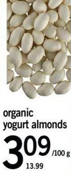 Organic Yogurt Almonds