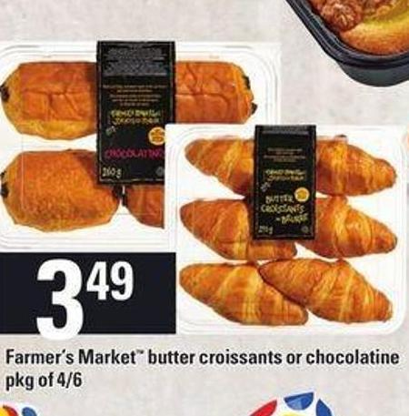 Farmer's Market Butter Croissants Or Chocolate.