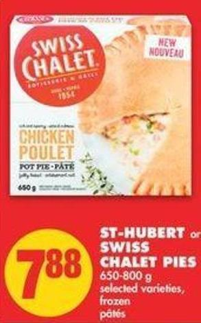 St-hubert Or Swiss Chalet Pies - 650-800 g