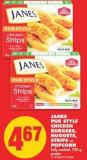 Janes Pub Style Chicken Burgers - Nuggets - Strips or Popcorn - 700 g