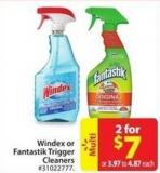 Windex or Fantastik Trigger Cleaners