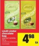 Lindt Lindor Chocolate Bag - 150 g