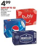 Bubly - Pepsi 12x355ml Case or Montellier 10x355ml Case