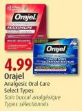 Orajel Analgesic Oral Care Select Types