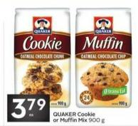 Quaker Cookie or Muffin Mix 900 g