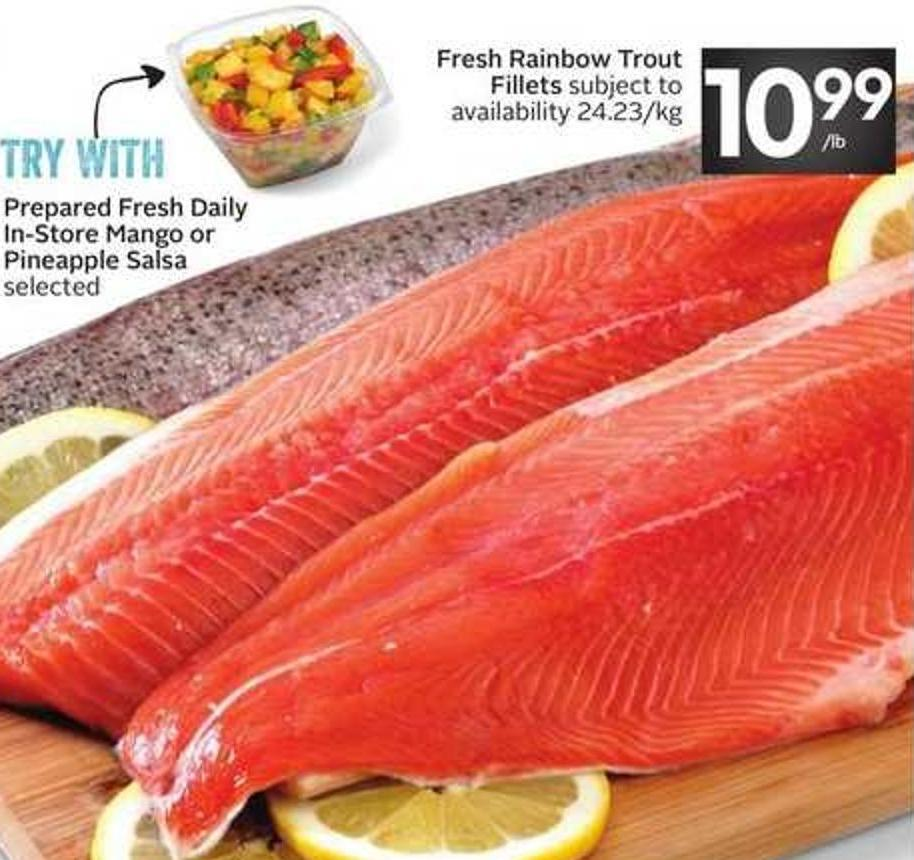 Fresh Rainbow Trout Fillets Subject To Availability - 24.23/kg