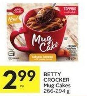 Betty Crocker Mug Cakes 266-294 g