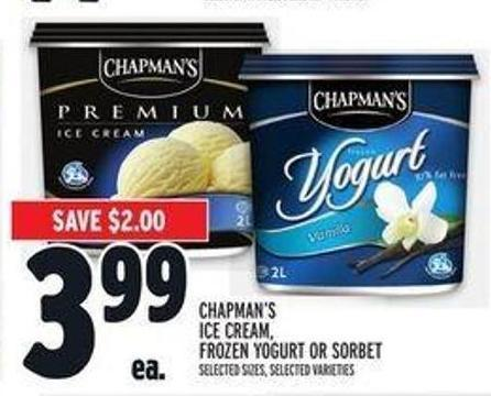 Chapman's Ice Cream - Frozen Yogurt Or Sorbet