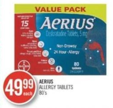 Aerius Allergy Tablets 80's