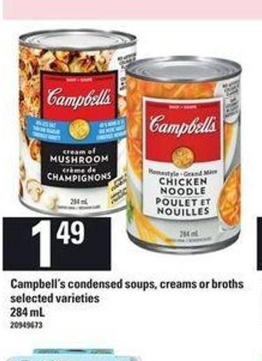 Campbell's Condensed Soups - Creams Or Broths - 284 Ml