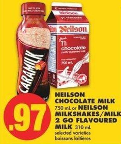 Neilson Chocolate Milk 750 Ml Or Neilson Milkshakes/milk 2 Go Flavoured Milk 310 Ml