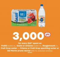 Fruité 6x300 ml - Oasis Or Arizona 8x200 ml - Rougemount 2 L - Fruit Drop Water 1 L Prisma Or Fruit Drop Sparkling Water Or Del Monte Prune Nectar 945 ml