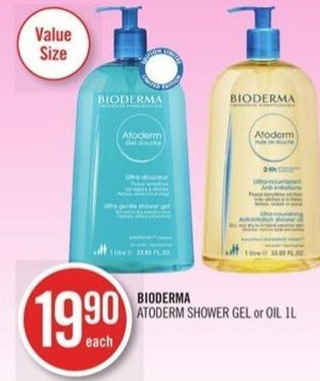 Bioderma Atoderm Shower Gel or Oil 1 L