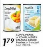 Compliments or Compliments Balance Canned Peaches