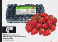 PC Organics Blueberries 9.8 Oz Or Organic Strawberries - 454 G