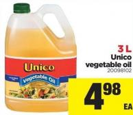 Unico Vegetable Oil 3 L