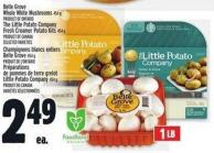 Belle Grove Whole White Mushrooms 454 G - The Little Potato Company Fresh Creamer Potato Kits 454 G
