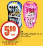 Bic Disposable Razors 2's - 4's