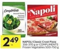 Napoli Classic Crust Pizza 356-370 g or Compliments Frozen Vegetables 500-750 g