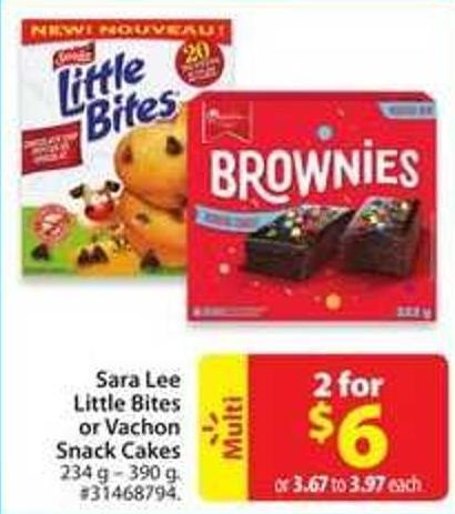 Sara Lee Little Bites or Vachon Snack Cakes