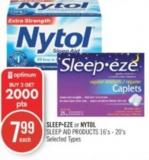 Sleepeze or Nytol Sleep Aid Products