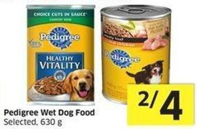 Pedigree Wet Dog Food Selected - 630 g