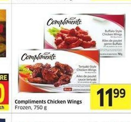 Compliments Chicken Wings Frozen.