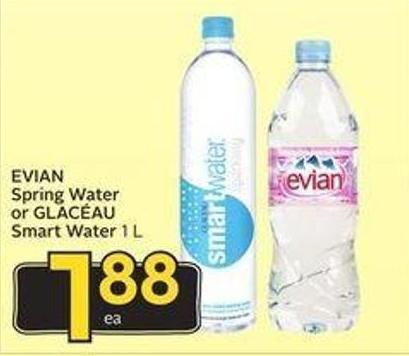 Evian Spring Water or Glacéau Smart Water