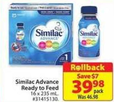 Similac Advance Ready To Feed