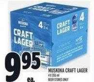 Muskoka Craft Lager 4 X 355 ml