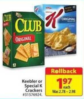 Keebler or Special K Crackers