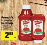 French's Tomato Ketchup 750 Ml-1 L
