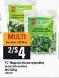 PC Organics Frozen Vegetables - 300-500 g