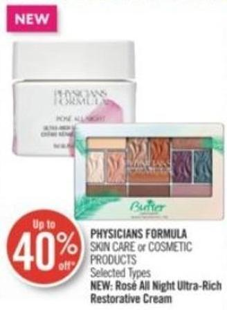 Physicians Formula Skin Care or Cosmetic Products