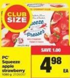 PC Squeeze Apple Strawberry - 1080 g